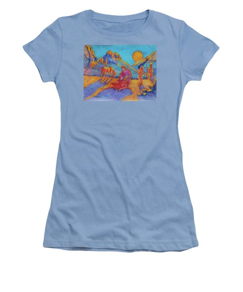 Good Samaritan Parable Painting Bertram Poole Women's T-Shirt (Athletic Fit)
