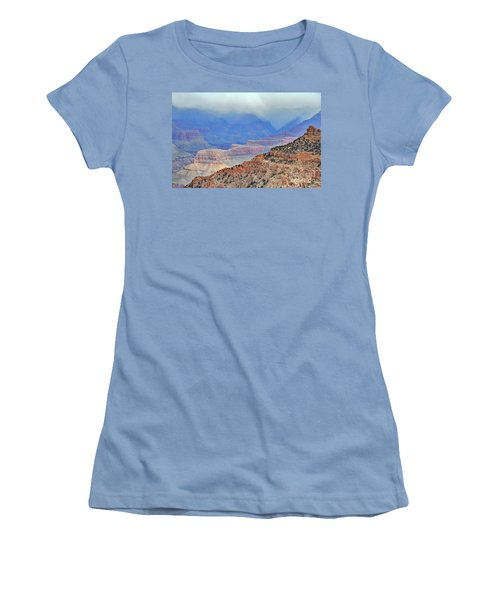 Grand Canyon Levels Women's T-Shirt (Junior Cut) by Debby Pueschel