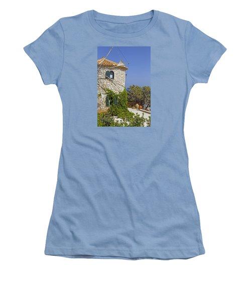 Greek Windmill Women's T-Shirt (Junior Cut) by Rainer Kersten