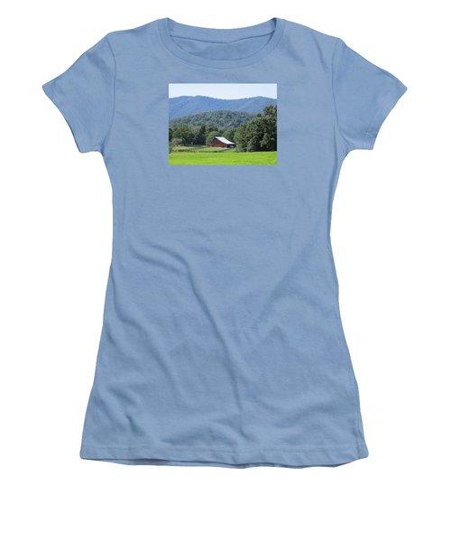 Mountain Barn Retreat Women's T-Shirt (Junior Cut) by Charlotte Gray