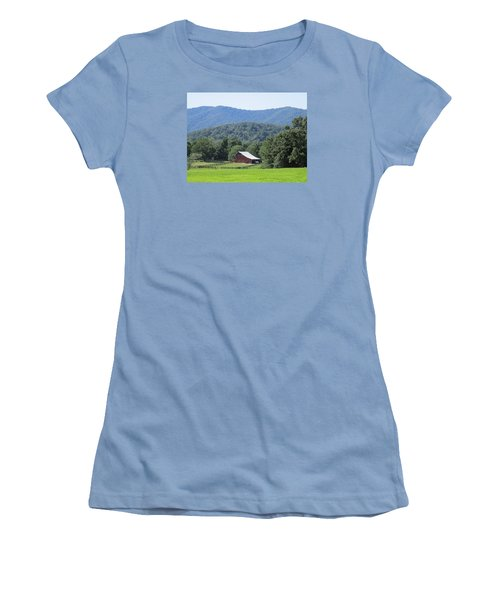 Mountain Barn Retreat Women's T-Shirt (Athletic Fit)