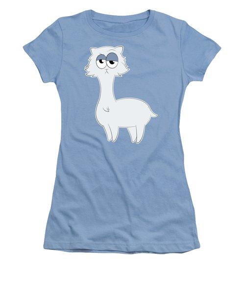 Grumpy Persian Cat Llama Women's T-Shirt (Junior Cut) by Catifornia Shop
