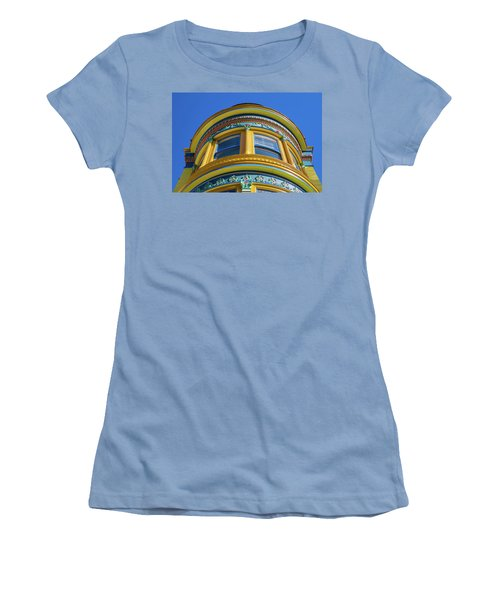 Haight Ashbury Painted Victorian Women's T-Shirt (Athletic Fit)
