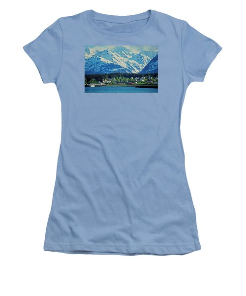 Haines - Alaska Women's T-Shirt (Junior Cut) by Juergen Weiss