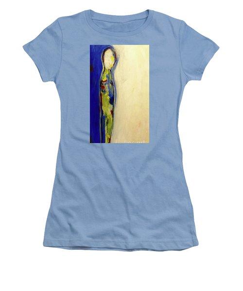Half Man Half Blue Women's T-Shirt (Athletic Fit)