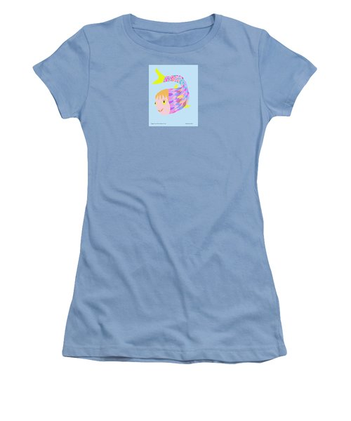 Happy Clown Fish  Women's T-Shirt (Athletic Fit)