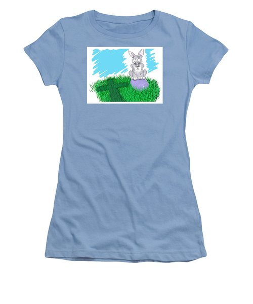 Happy Easter Women's T-Shirt (Junior Cut) by Antonio Romero