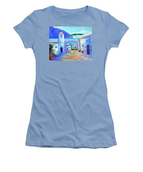 Women's T-Shirt (Junior Cut) featuring the painting Harmony Of Como by Larry Cirigliano