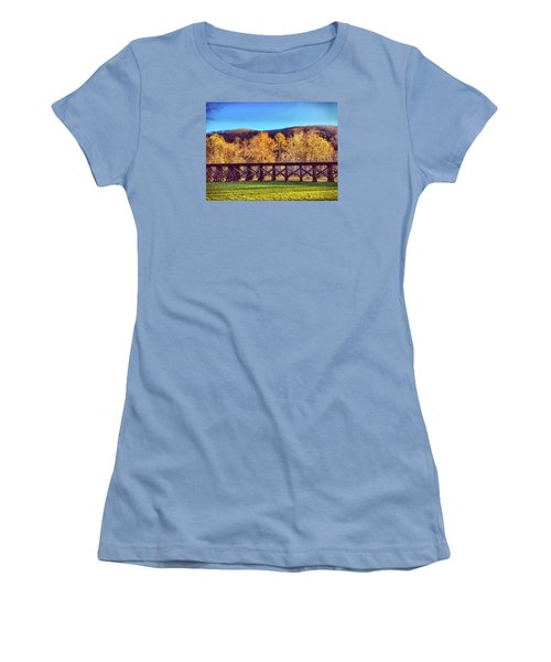 Harpers Ferry Train Tracks Women's T-Shirt (Athletic Fit)