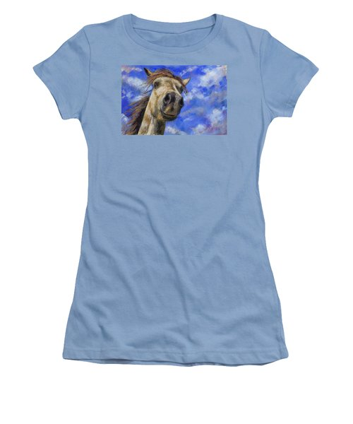 Head In The Clouds Women's T-Shirt (Athletic Fit)