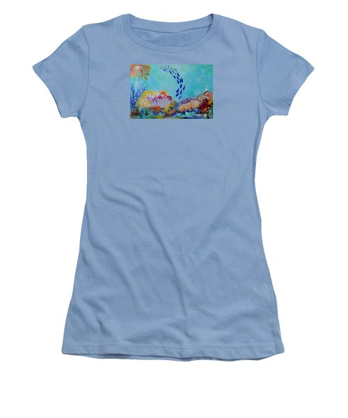 Heading For The Coral Women's T-Shirt (Junior Cut) by Lyn Olsen