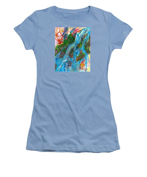 Healing Waters Women's T-Shirt (Junior Cut) by Denise Hoag