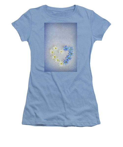 Heart And Flowers Women's T-Shirt (Athletic Fit)