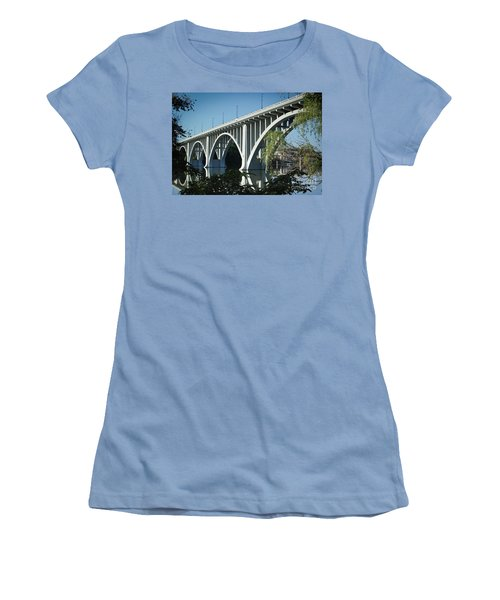 Women's T-Shirt (Athletic Fit) featuring the photograph Henley Street Bridge II by Douglas Stucky