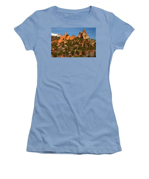 Women's T-Shirt (Junior Cut) featuring the photograph High Point Rock Towers by Adam Jewell