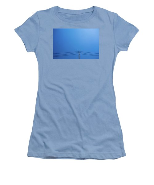 High Voltage Power, Electric Pose Women's T-Shirt (Junior Cut) by Jingjits Photography
