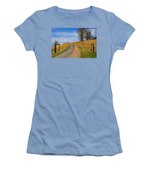 Hilltop Driveway Women's T-Shirt (Athletic Fit)