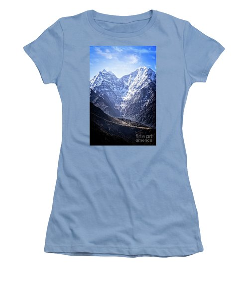 Himalayan Village Women's T-Shirt (Athletic Fit)
