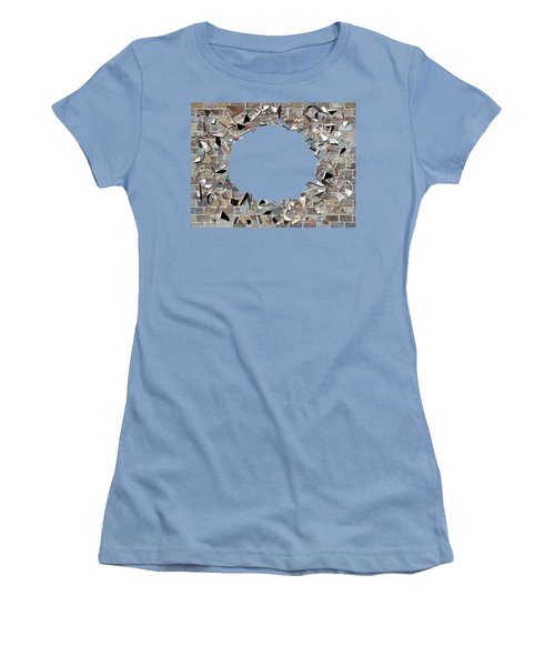 Hole In The Wall - Exploding Wal Women's T-Shirt (Junior Cut) by Michal Boubin