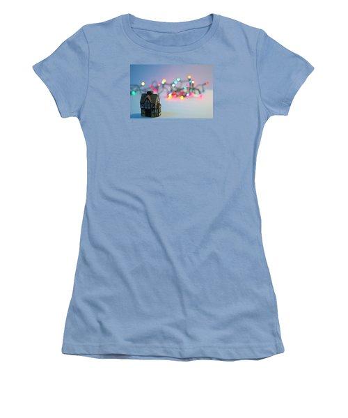 Holiday Lights Women's T-Shirt (Junior Cut) by John Rossman