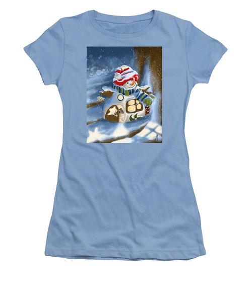 Women's T-Shirt (Junior Cut) featuring the painting Home Sweet Home by Veronica Minozzi