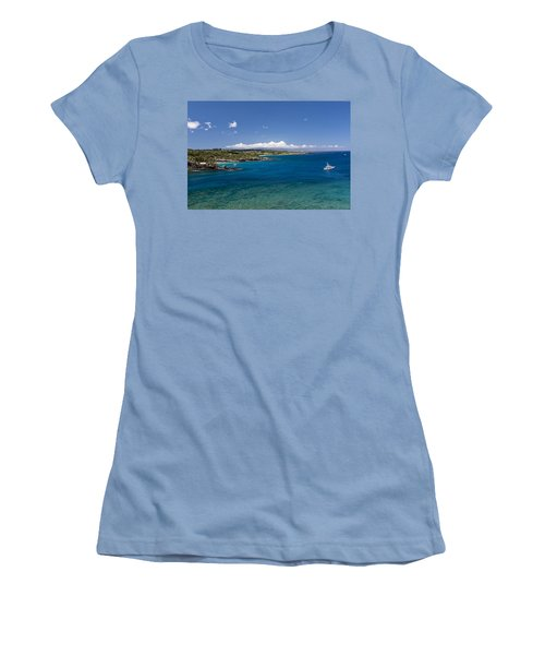 Honolua Bay Women's T-Shirt (Junior Cut) by Jim Thompson