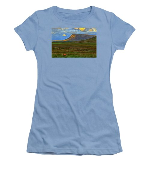 Women's T-Shirt (Junior Cut) featuring the photograph Horse And Sky by Scott Mahon