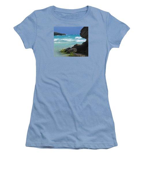 Horseshoe Bay Rocks Women's T-Shirt (Junior Cut) by Ian  MacDonald