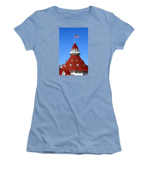 Women's T-Shirt (Junior Cut) featuring the photograph Hotel Del Coronado by Christopher Woods