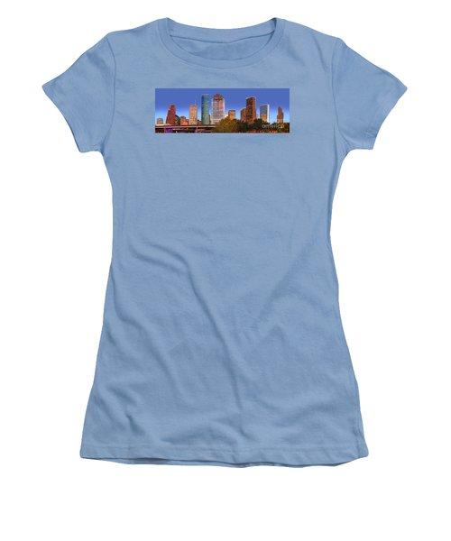 Houston Texas Skyline At Dusk Women's T-Shirt (Athletic Fit)