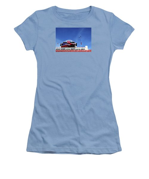 Husker Memorial Stadium Air Force Fly Over Women's T-Shirt (Athletic Fit)