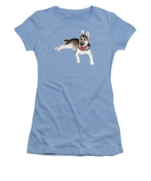 Husky Puppy Bella Women's T-Shirt (Athletic Fit)