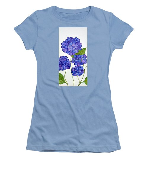 Hydrangea Women's T-Shirt (Junior Cut) by Reina Resto
