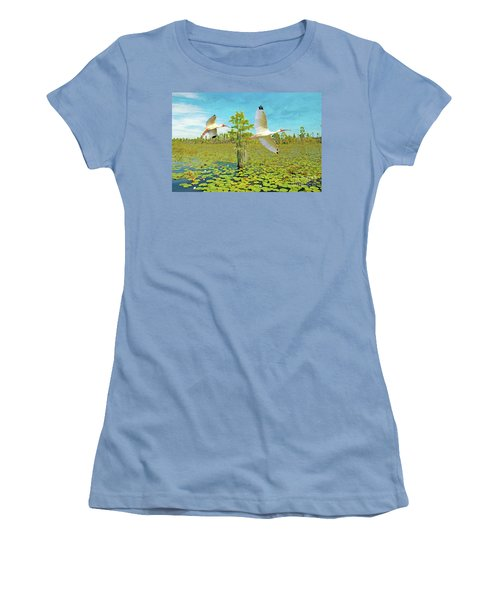 Ibis At Okefenokee Women's T-Shirt (Athletic Fit)