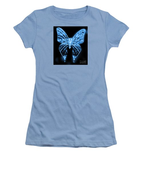 Women's T-Shirt (Junior Cut) featuring the photograph Ice Wing Butterfly by Cassandra Buckley