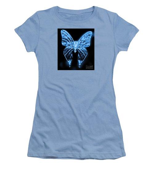 Ice Wing Butterfly Women's T-Shirt (Junior Cut) by Cassandra Buckley