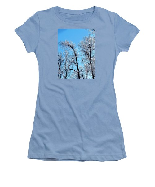 Iced Trees Women's T-Shirt (Junior Cut) by Craig Walters