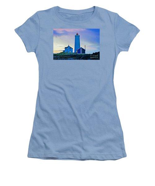 Iceland Lighthouse Women's T-Shirt (Junior Cut) by Michael Cinnamond