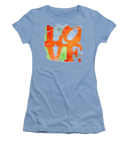 Iconic Love - Grunge Women's T-Shirt (Junior Cut) by Paulette B Wright