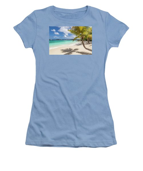 Women's T-Shirt (Athletic Fit) featuring the photograph Idyllic Salomon Beach by Adam Romanowicz