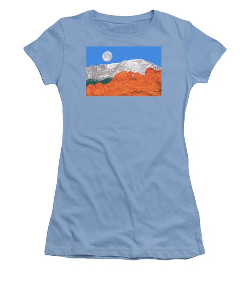 If You're Lucky Enough To Live In The Mountains, You're Lucky Enough.  Women's T-Shirt (Athletic Fit)