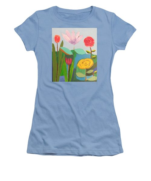 Imagined Flowers One Women's T-Shirt (Athletic Fit)