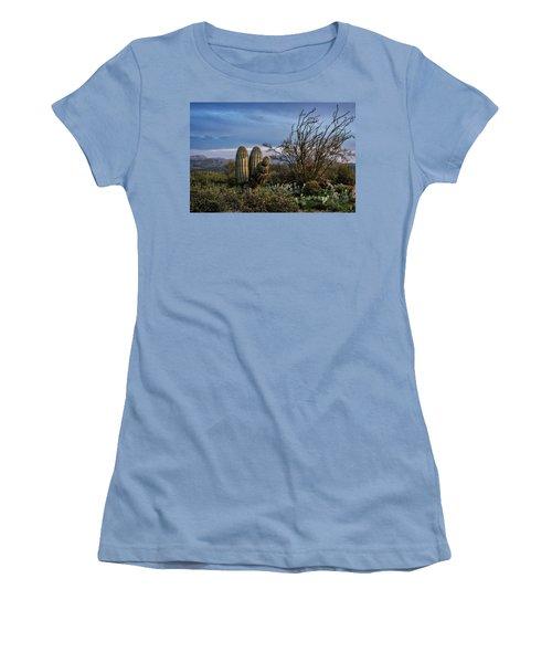 Women's T-Shirt (Junior Cut) featuring the photograph In The Green Desert  by Saija Lehtonen