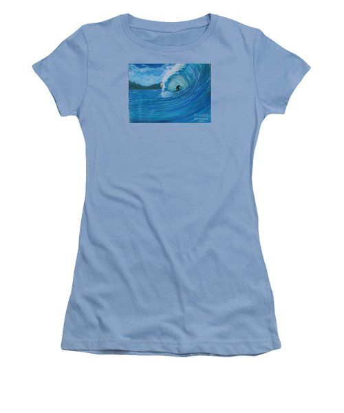 In The Green Room Women's T-Shirt (Junior Cut) by Myrna Walsh