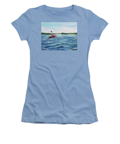 In The Kayak Women's T-Shirt (Athletic Fit)