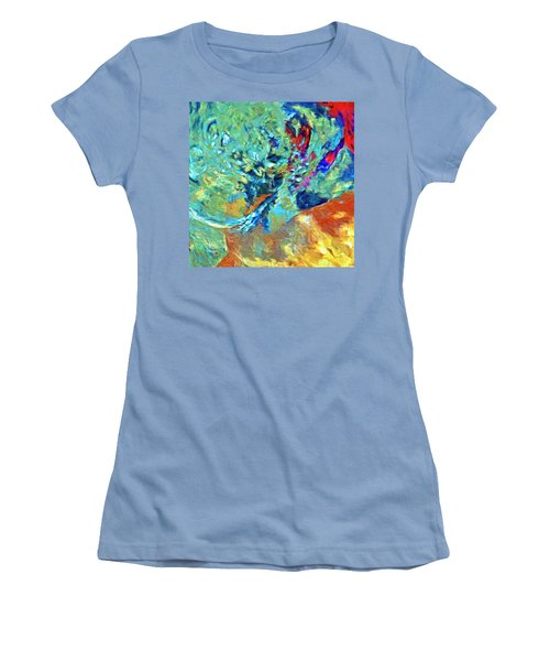 Women's T-Shirt (Junior Cut) featuring the painting Incursion by Dominic Piperata