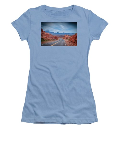 Into The Valley Of Fire Women's T-Shirt (Junior Cut) by Mark Dunton