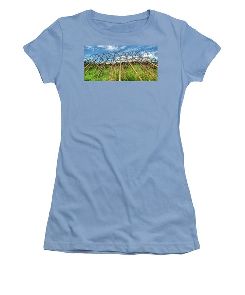 Irrigation Pipes 1 Women's T-Shirt (Junior Cut) by Jerry Sodorff