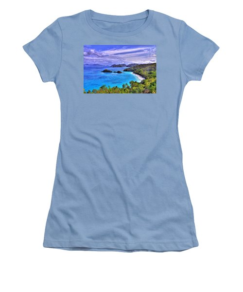 Isle Of Sands Women's T-Shirt (Athletic Fit)