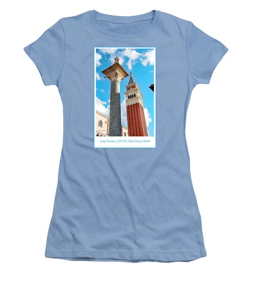 Italy Pavilion, Epcot, Walt Disney World Women's T-Shirt (Junior Cut) by A Gurmankin